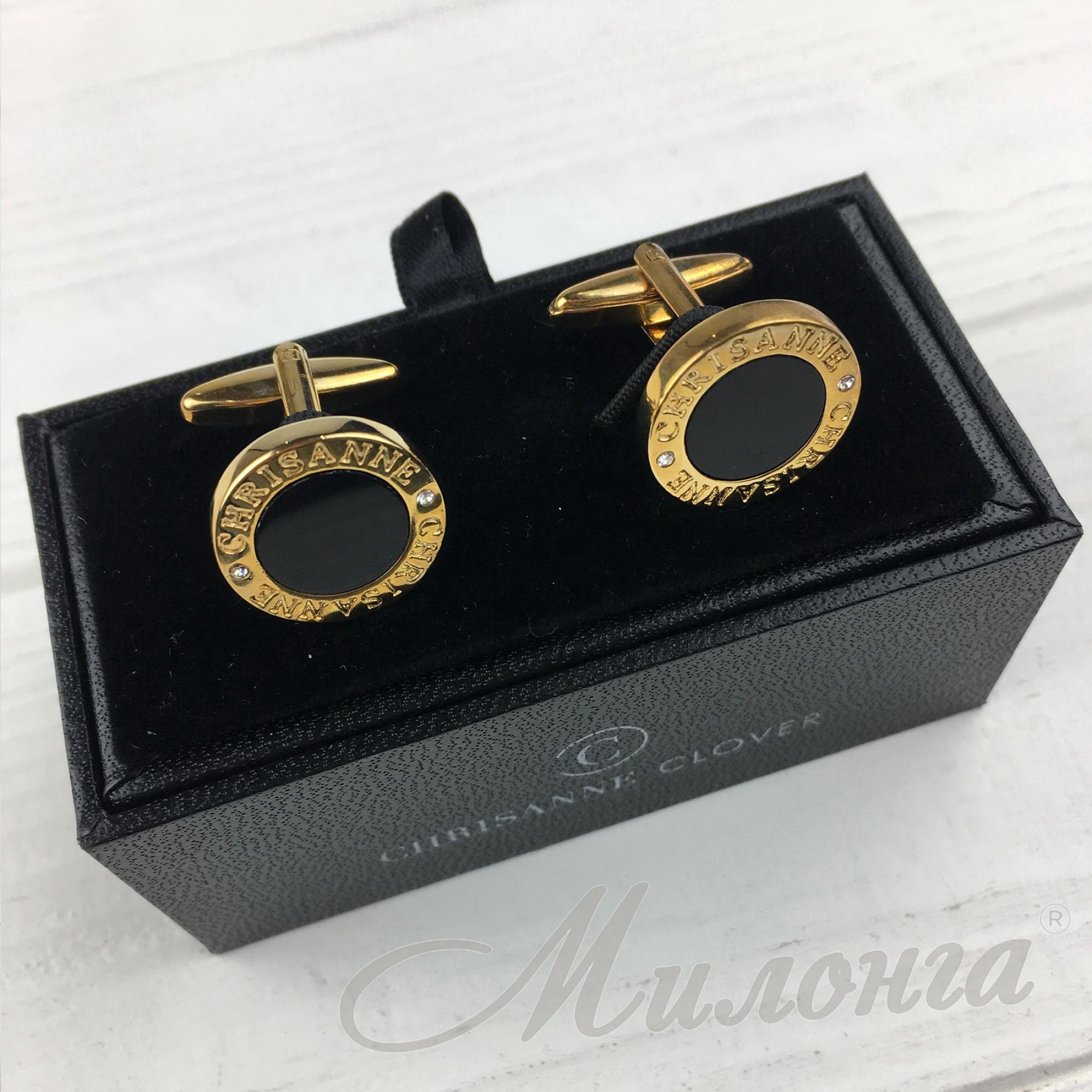 Запонки CНR золото камни