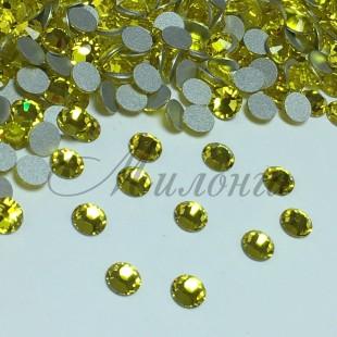 Preciosa Crystal SS16, клеевые Citrine