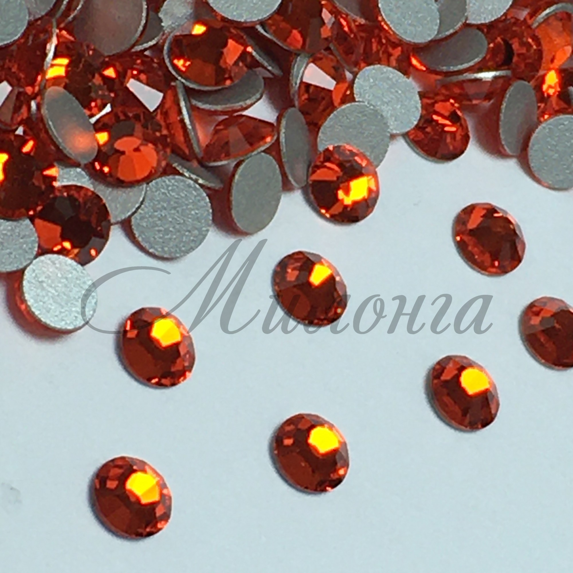 Preciosa Crystal SS16, клеевые Tanazanite