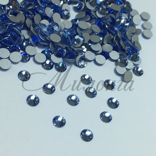 Preciosa Crystal SS16, клеевые LightSapphire