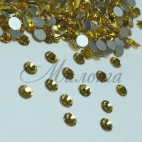 Preciosa Crystal SS16, клеевые LightTopaz