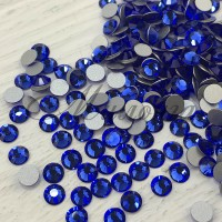 Preciosa Crystal SS16, клеевые Sapphire