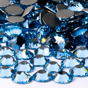 Preciosa Crystal SS20, клеевые Aquamarine