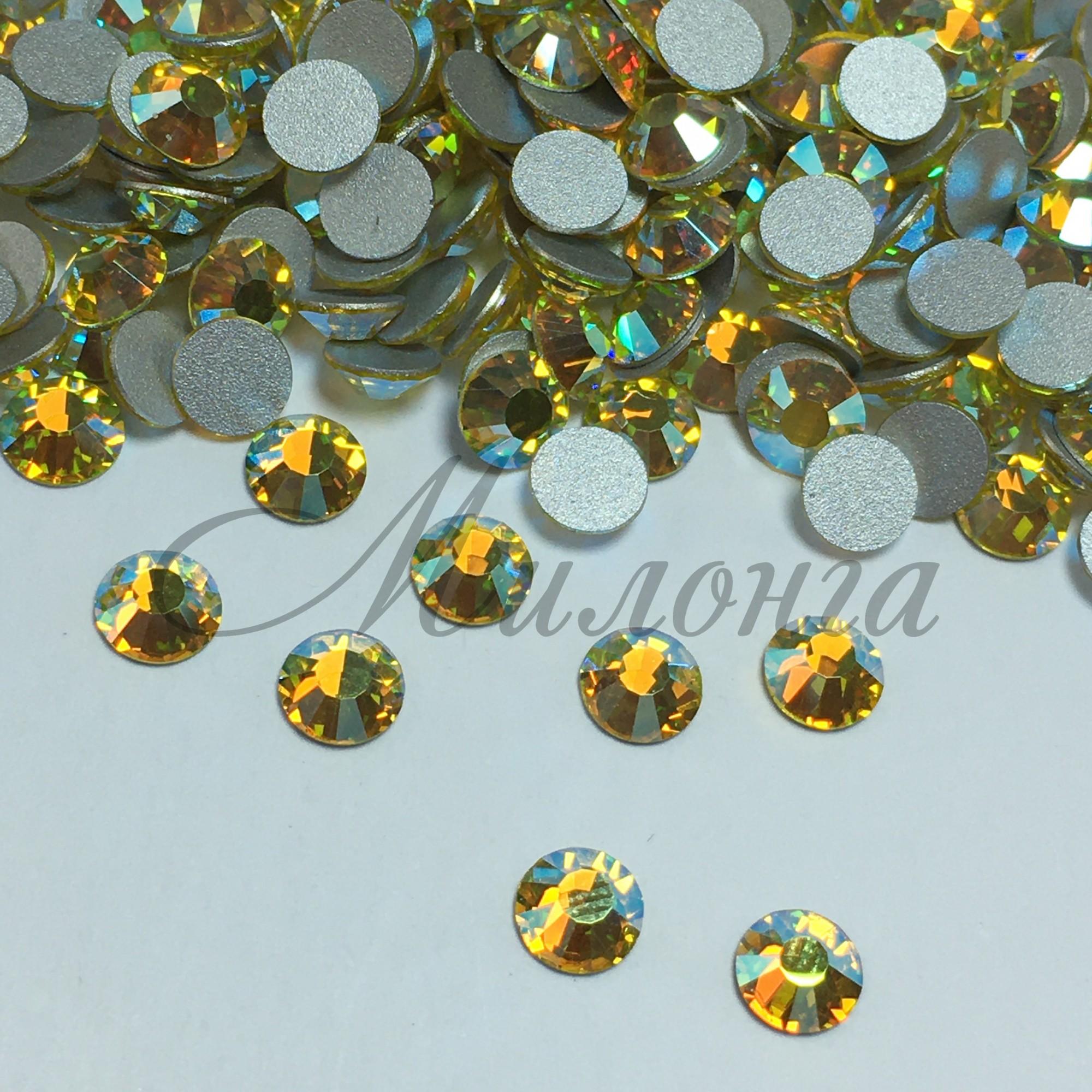 Preciosa Crystal SS20, клеевые Citrine