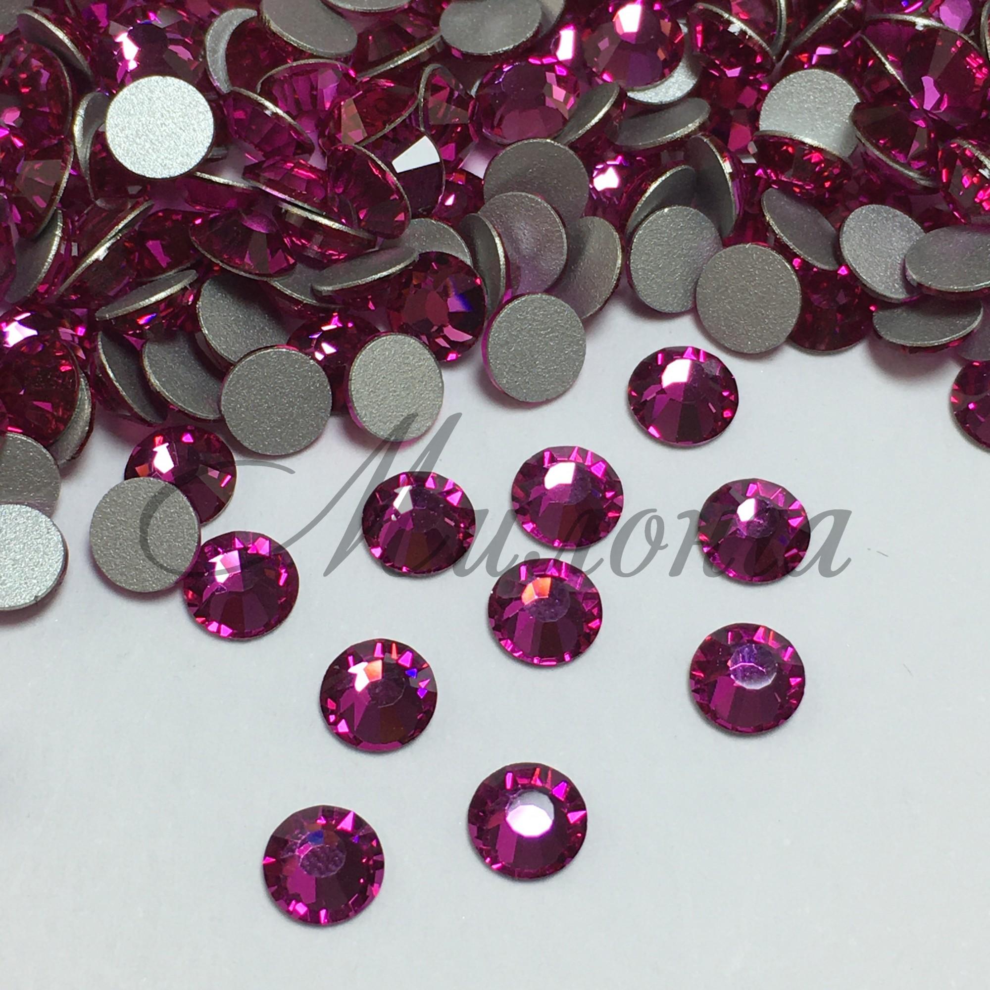 Preciosa Crystal SS20, клеевые Fuchsia