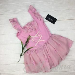 Купальник с юбкой Балет, розовый