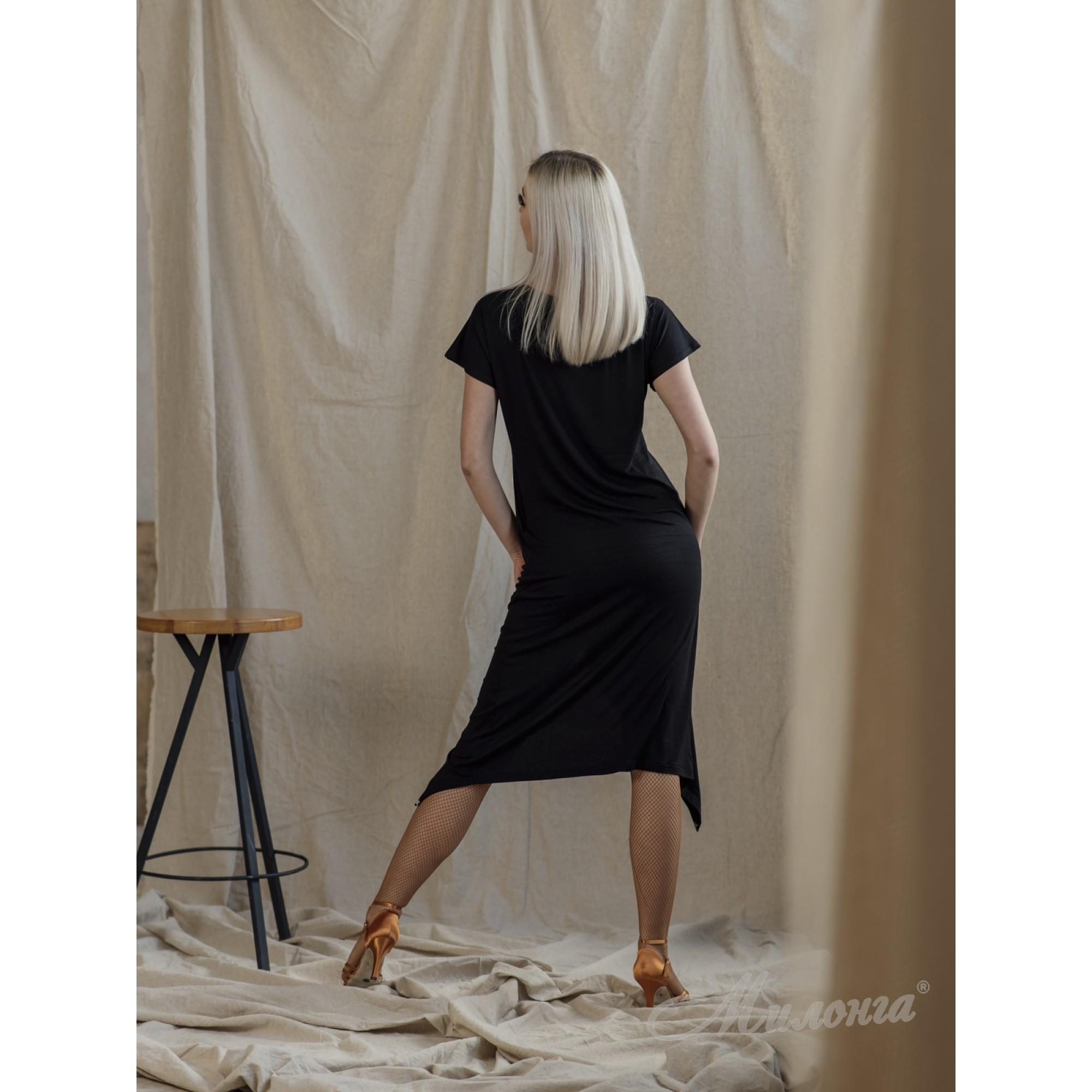 Платье SHOK 226, туника с лентой