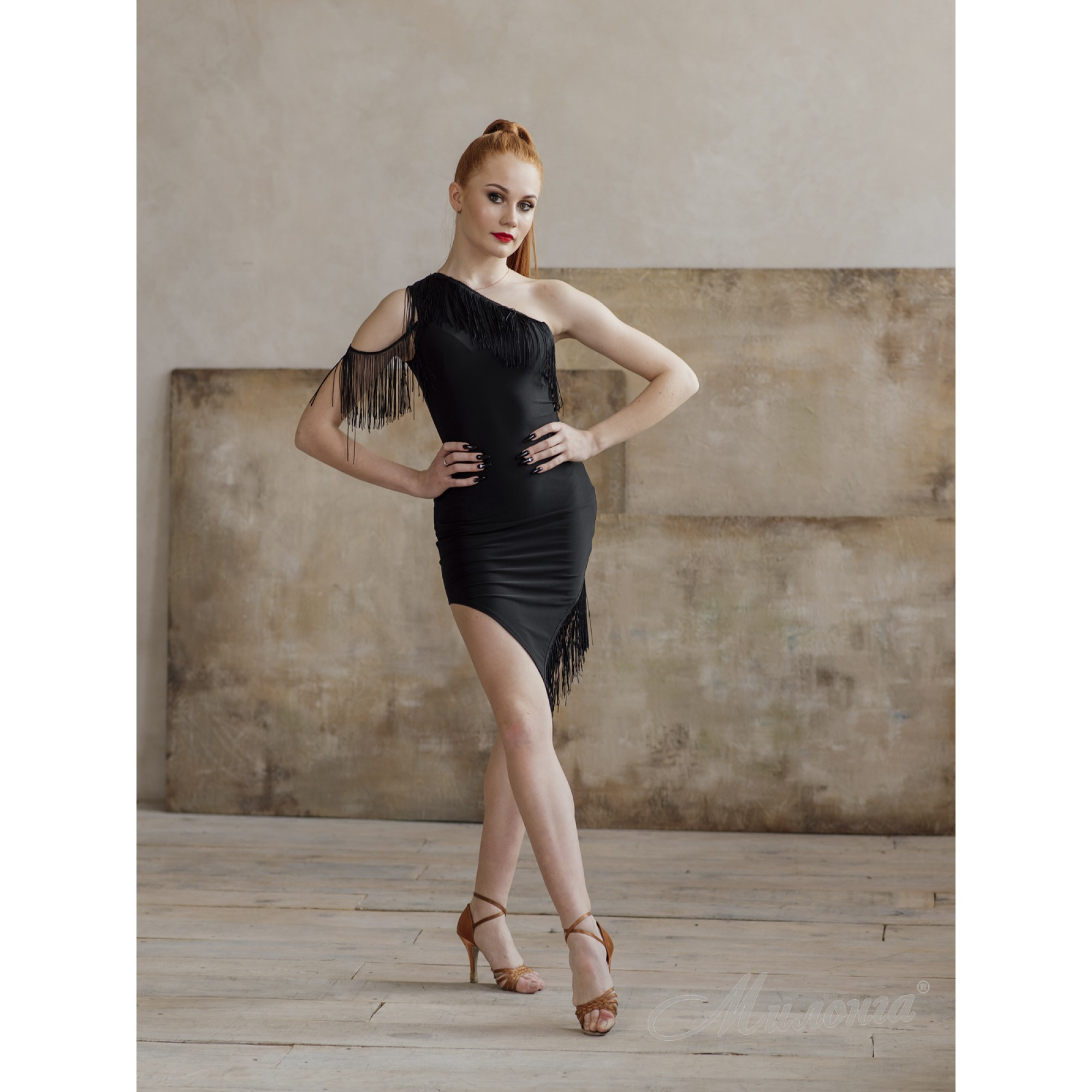 Платье SHOK 342 с бахромой