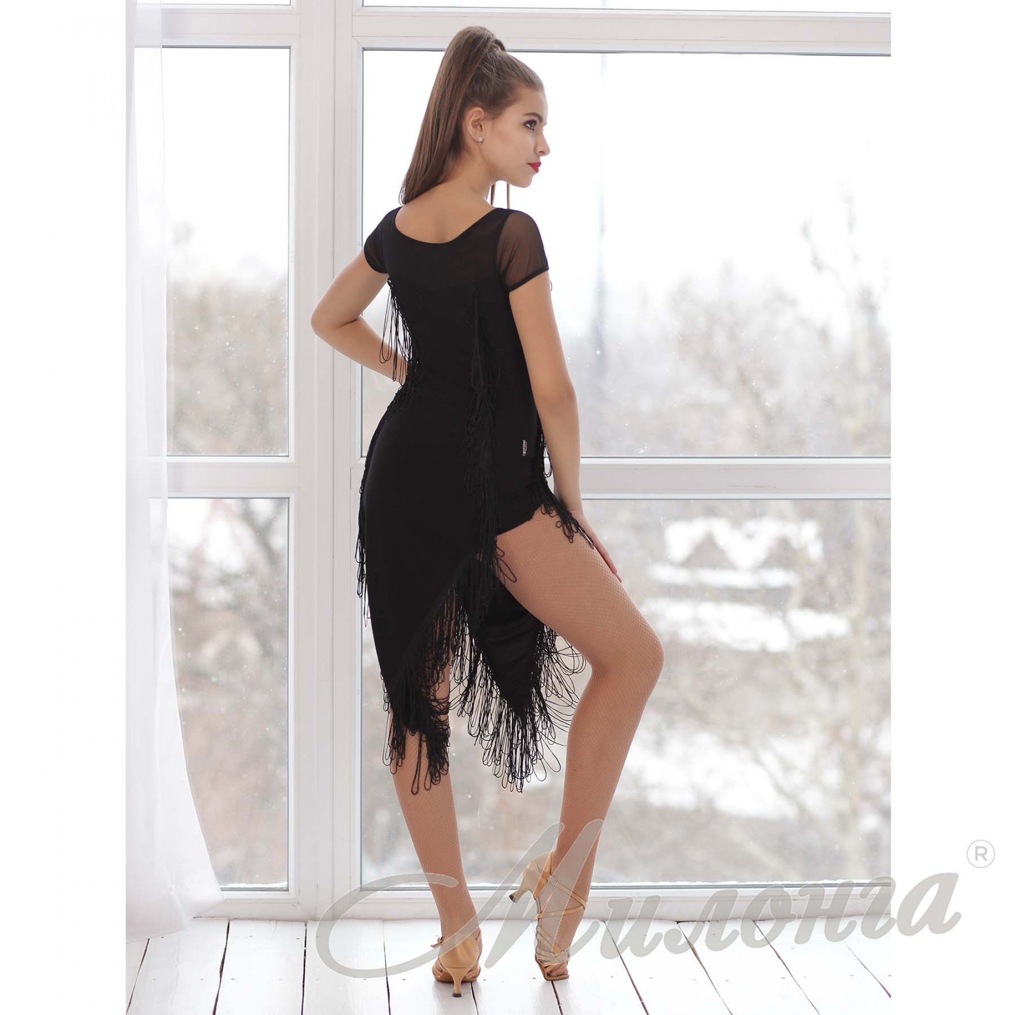 Платье латина бахрома 751