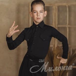Рубашка 1902 Нефрит, черная