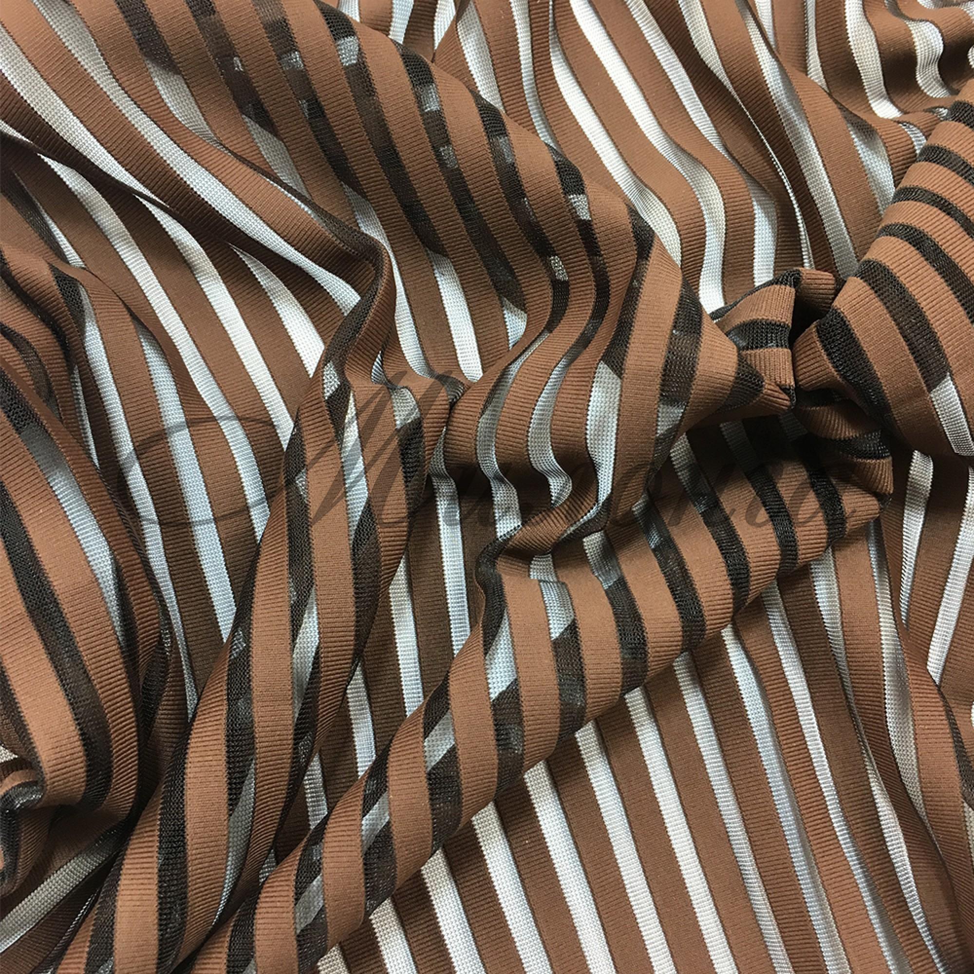 Лайкра DSI Stripes (1265) Cocao