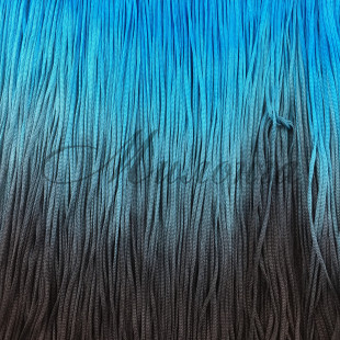 Бахрома градация (2228) DSI 30 см BlackTurquoise