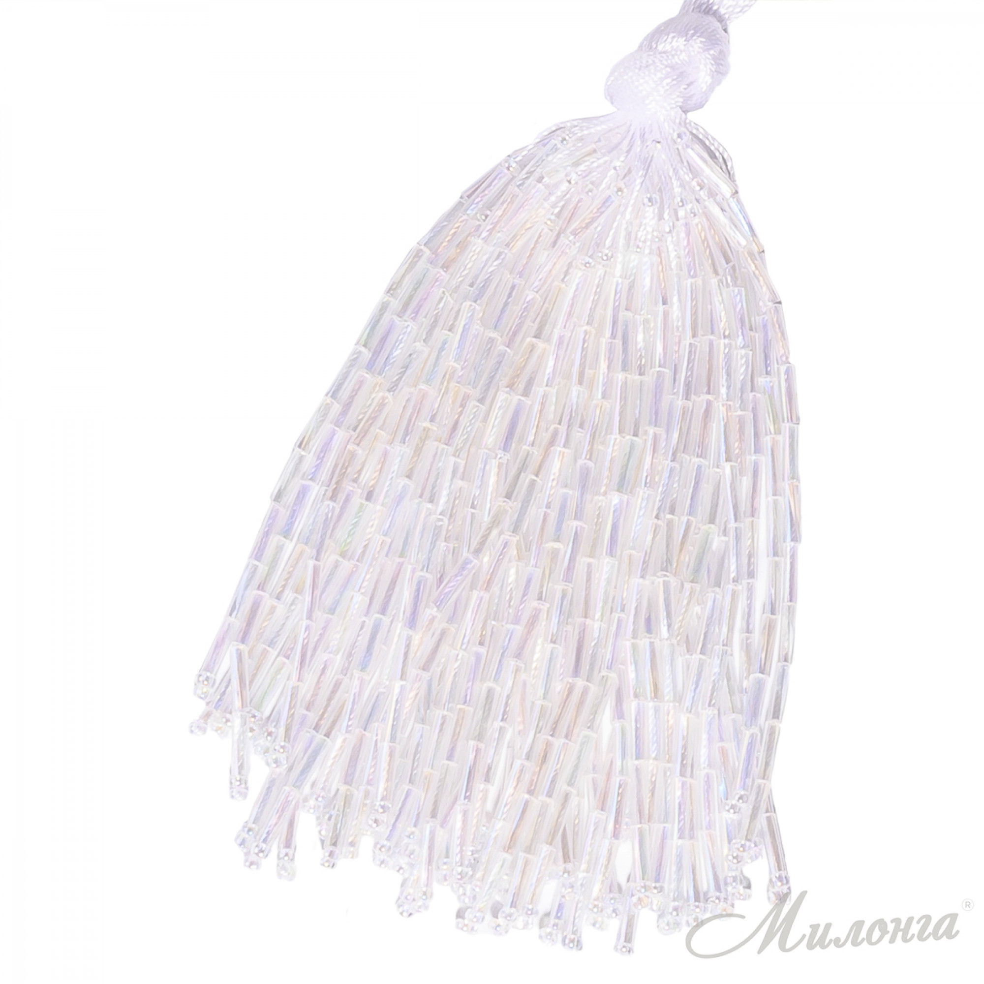 Стеклярус Chrisanne пучок (50 ниток) Crystal AB (White)