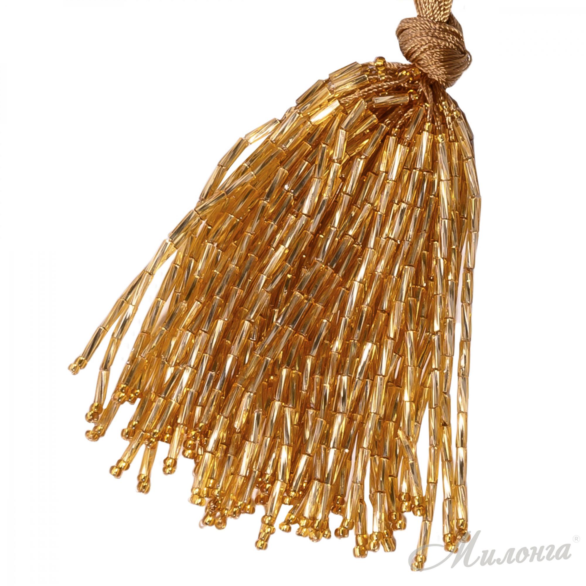 Стеклярус Chrisanne пучок (50 ниток) Gold