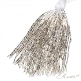 Стеклярус Chrisanne пучок (50 ниток) Silver