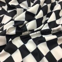Лайкра принт Италия Черно-белый квадрат
