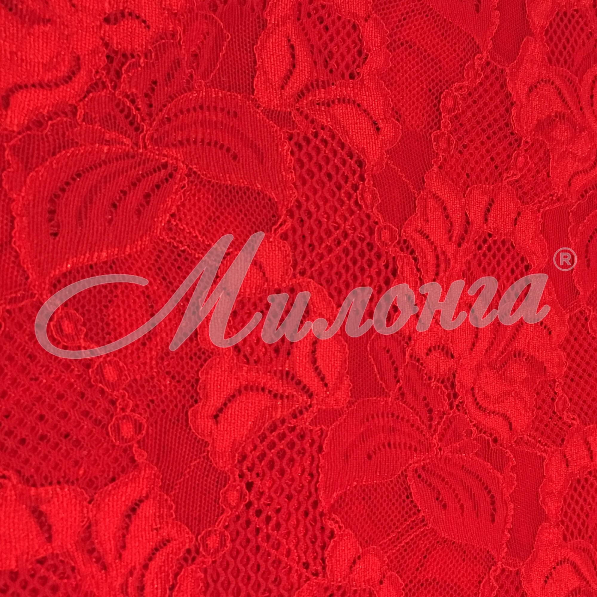 Гипюр Floral Cascade Chrisanne Red