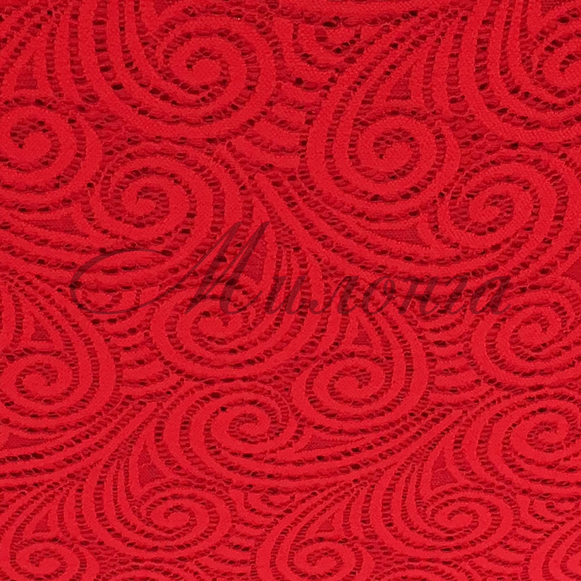 Гипюр Swirl Chrisanne Red