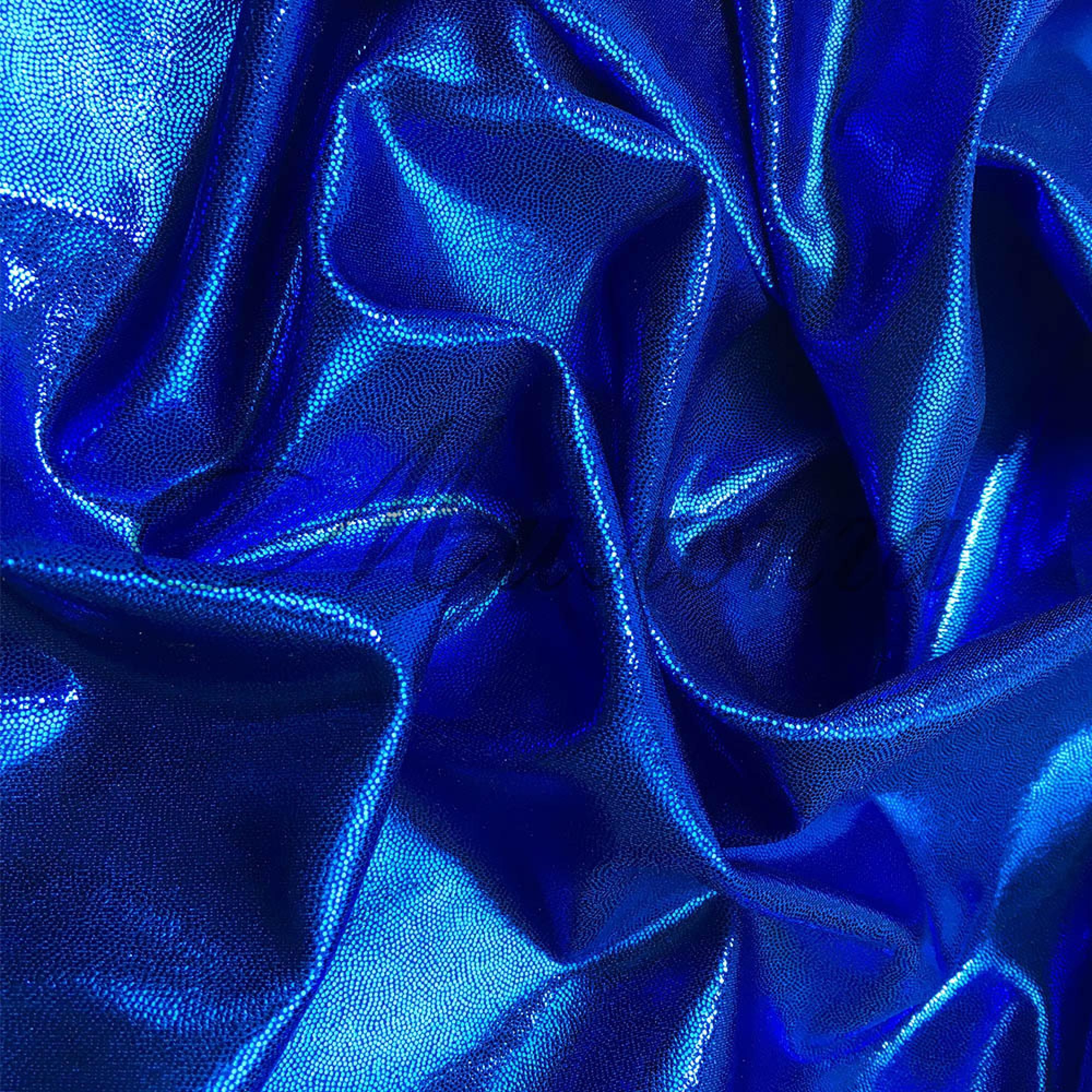 Лайкра Chrisanne DotShine Electric Blue on Blue
