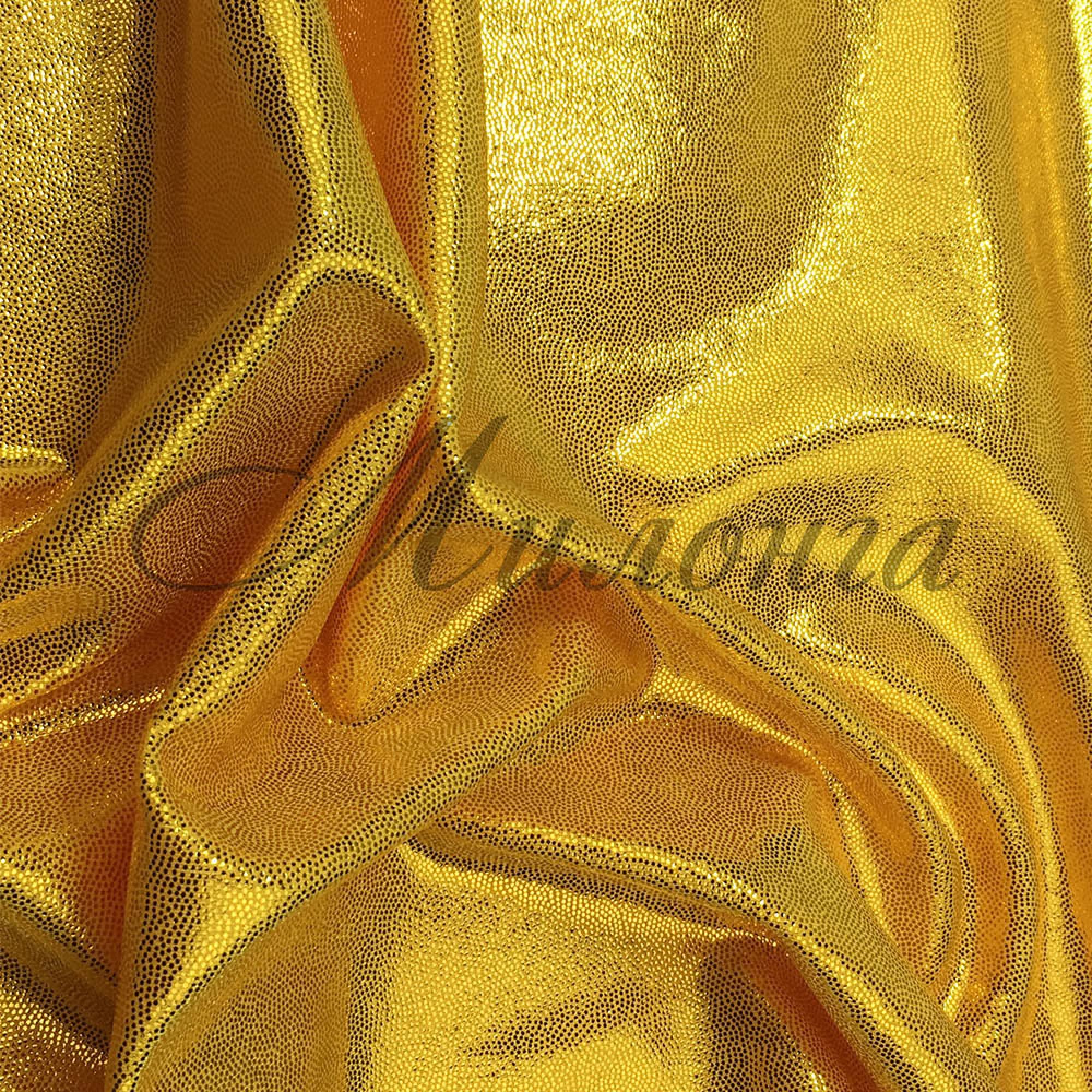 Лайкра Chrisanne DotShine Gold On Yellow