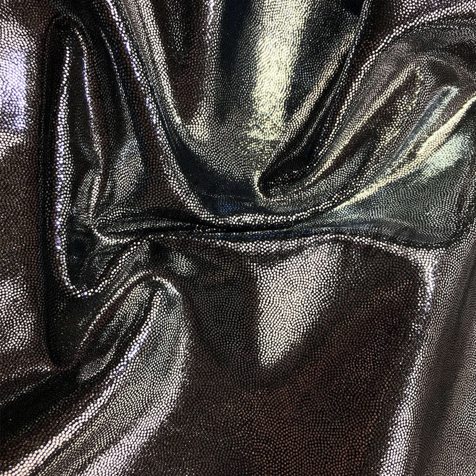 Лайкра Chrisanne DotShine Silver On Black