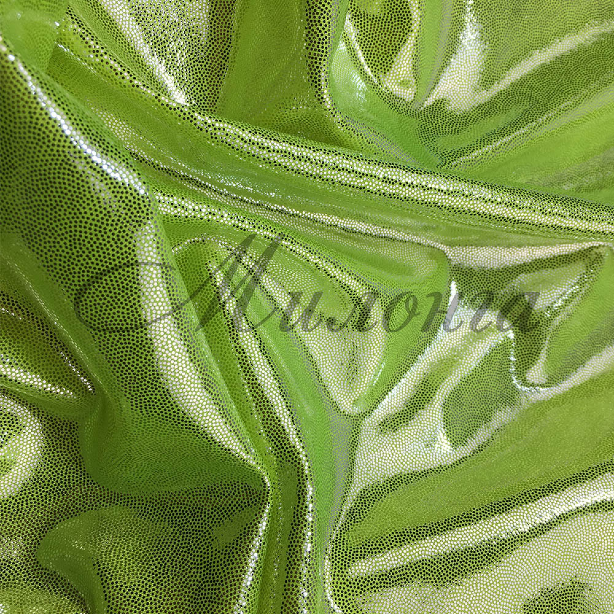 Лайкра Chrisanne DotShine Silver On Green