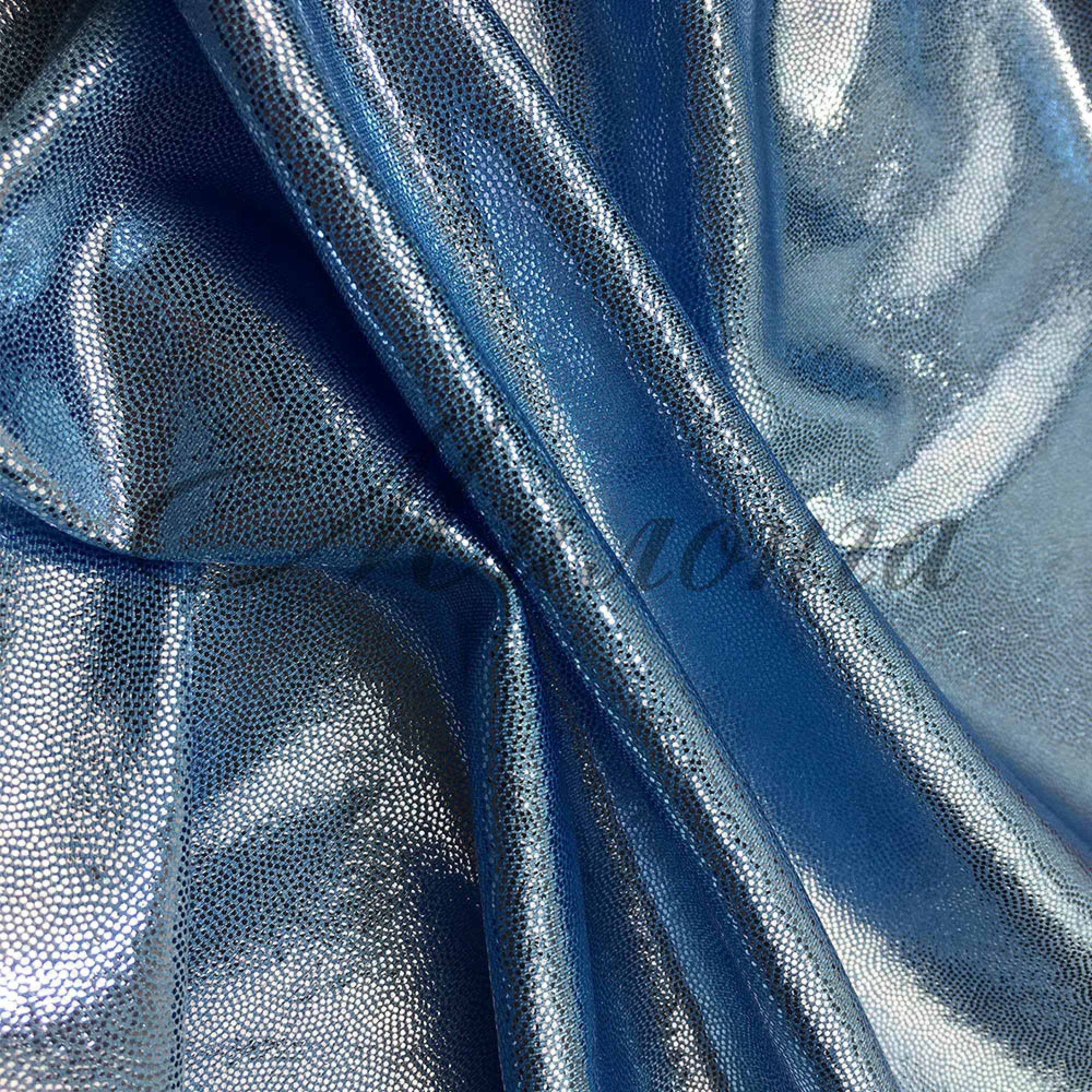 Лайкра Chrisanne DotShine Silver On Light Blue