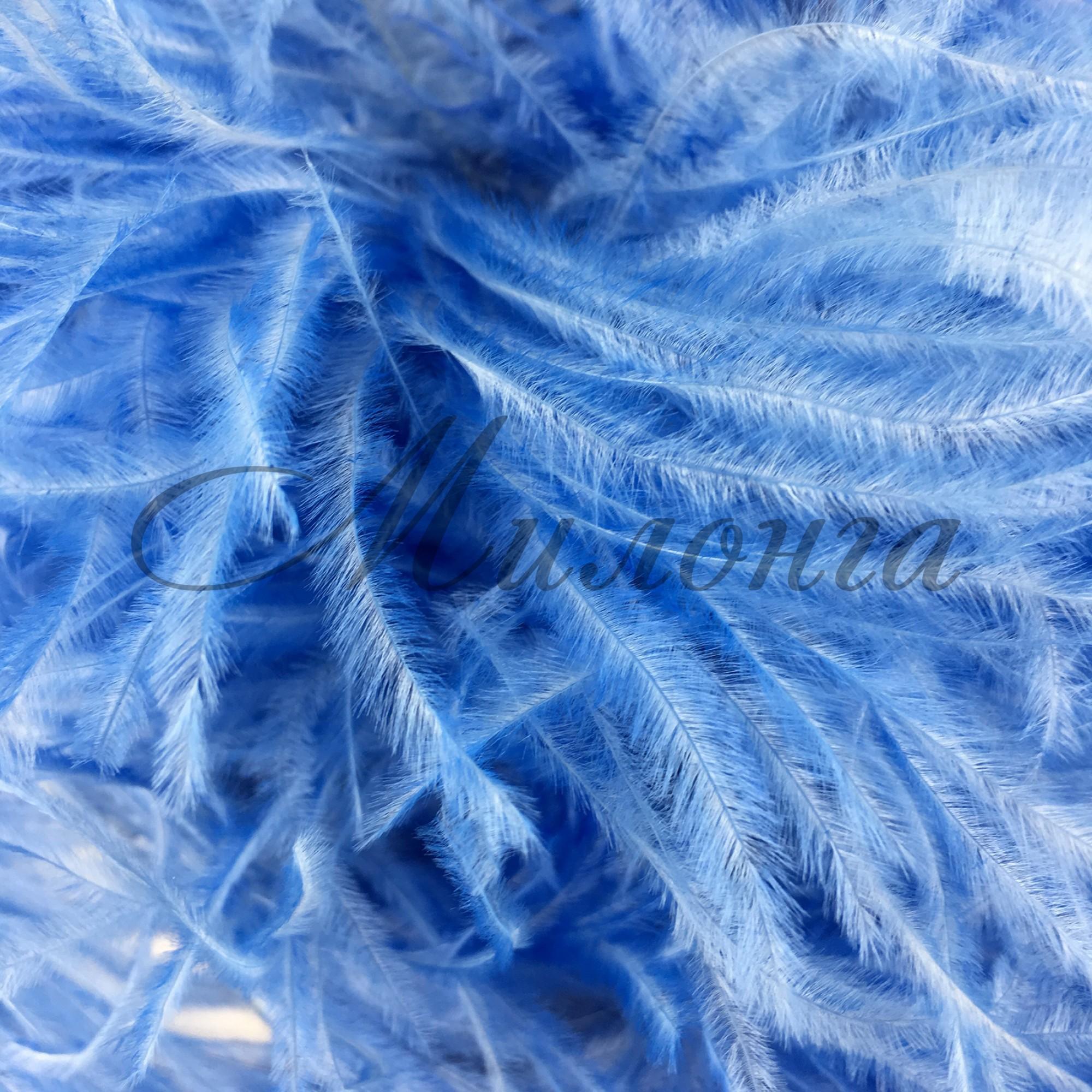 Перья страуса Chrisanne Bluebell