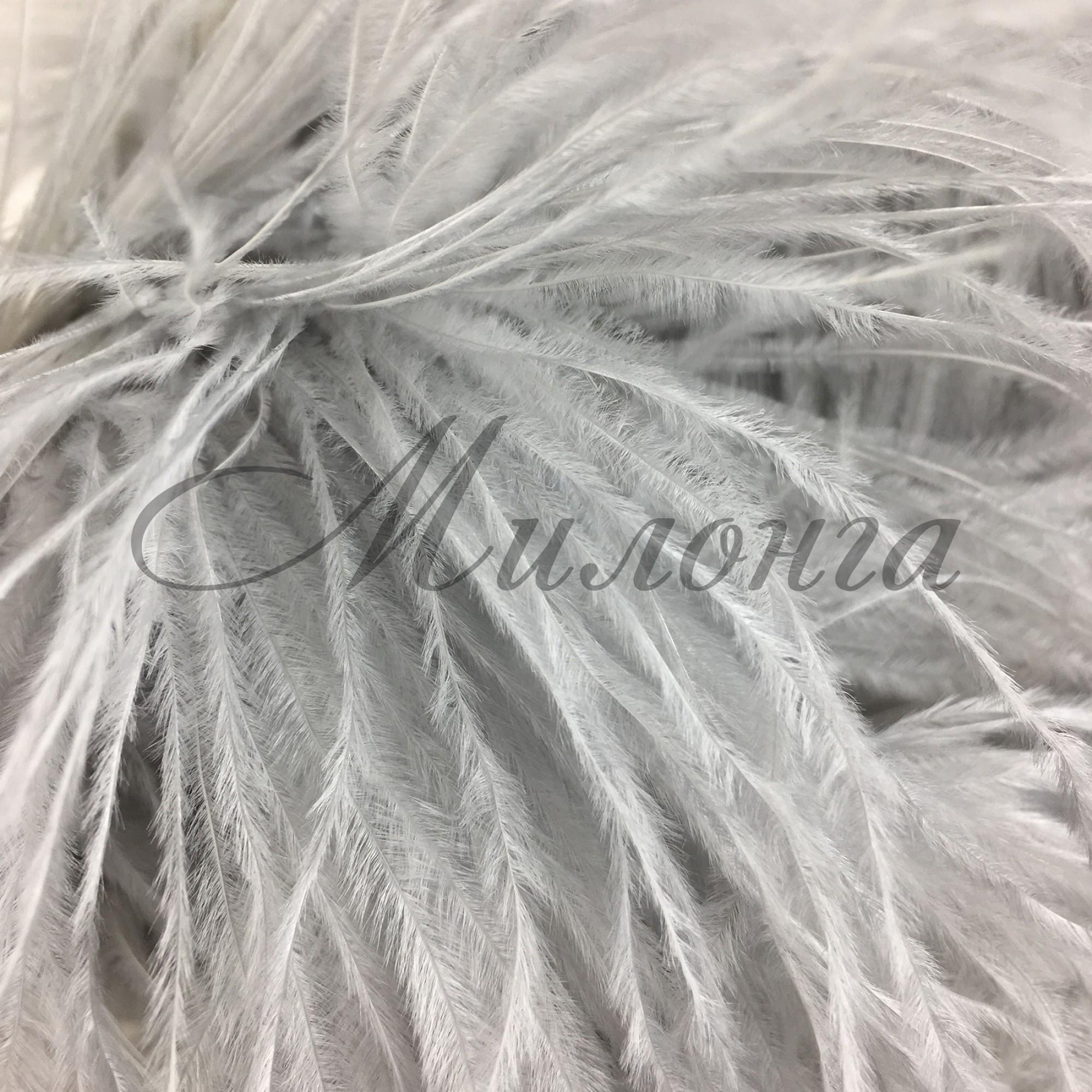 Перья страуса Chrisanne Silver