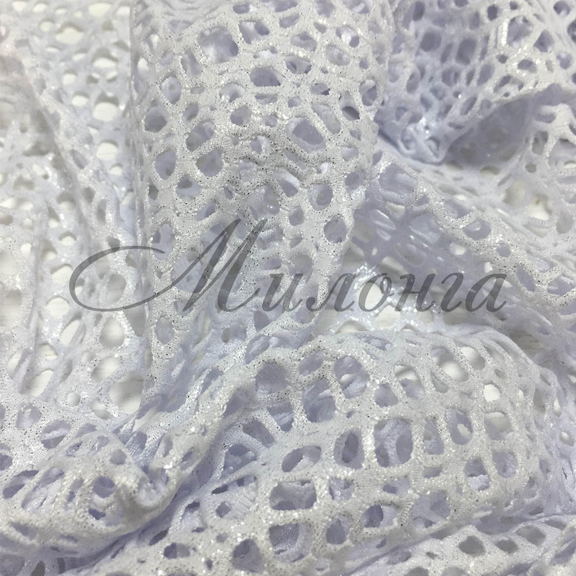 Сетка Fishnet Metalic Chrisanne Silver White