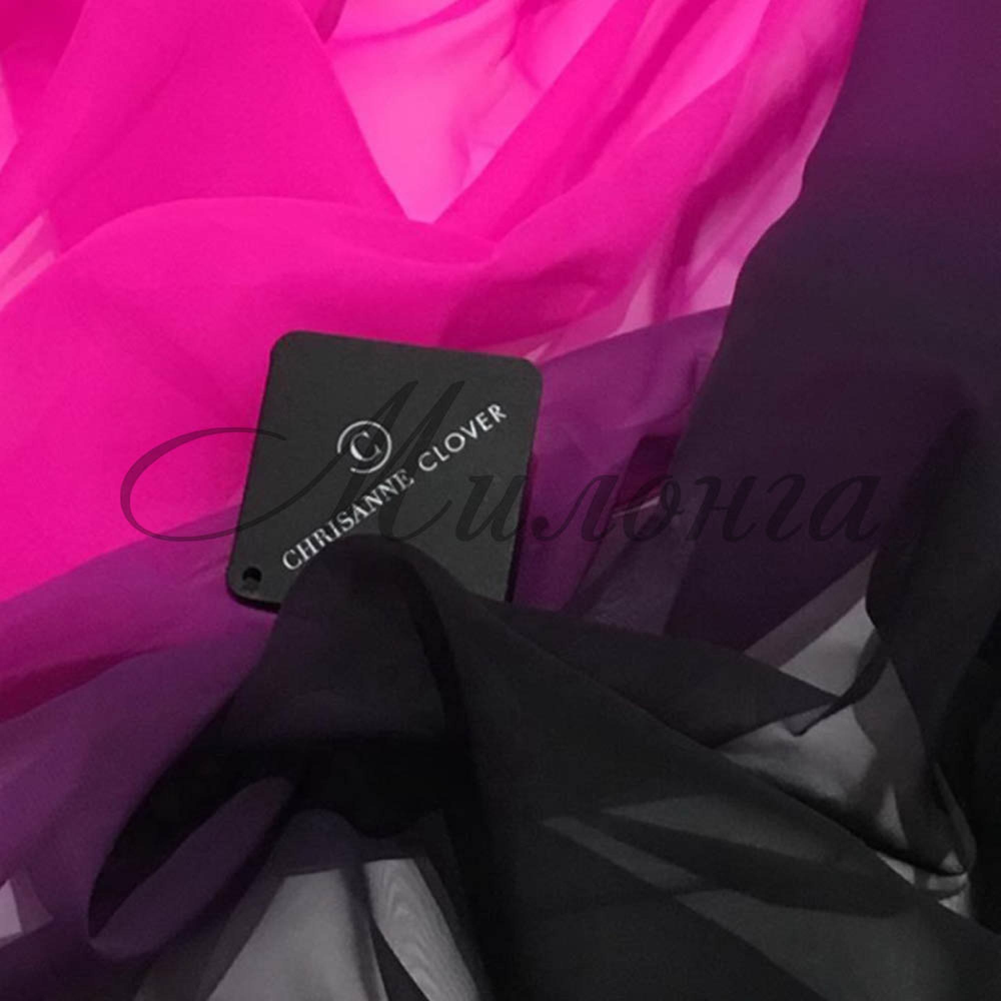 Шифон (Georgette) Chrissanne градация Black To Electrik Pink