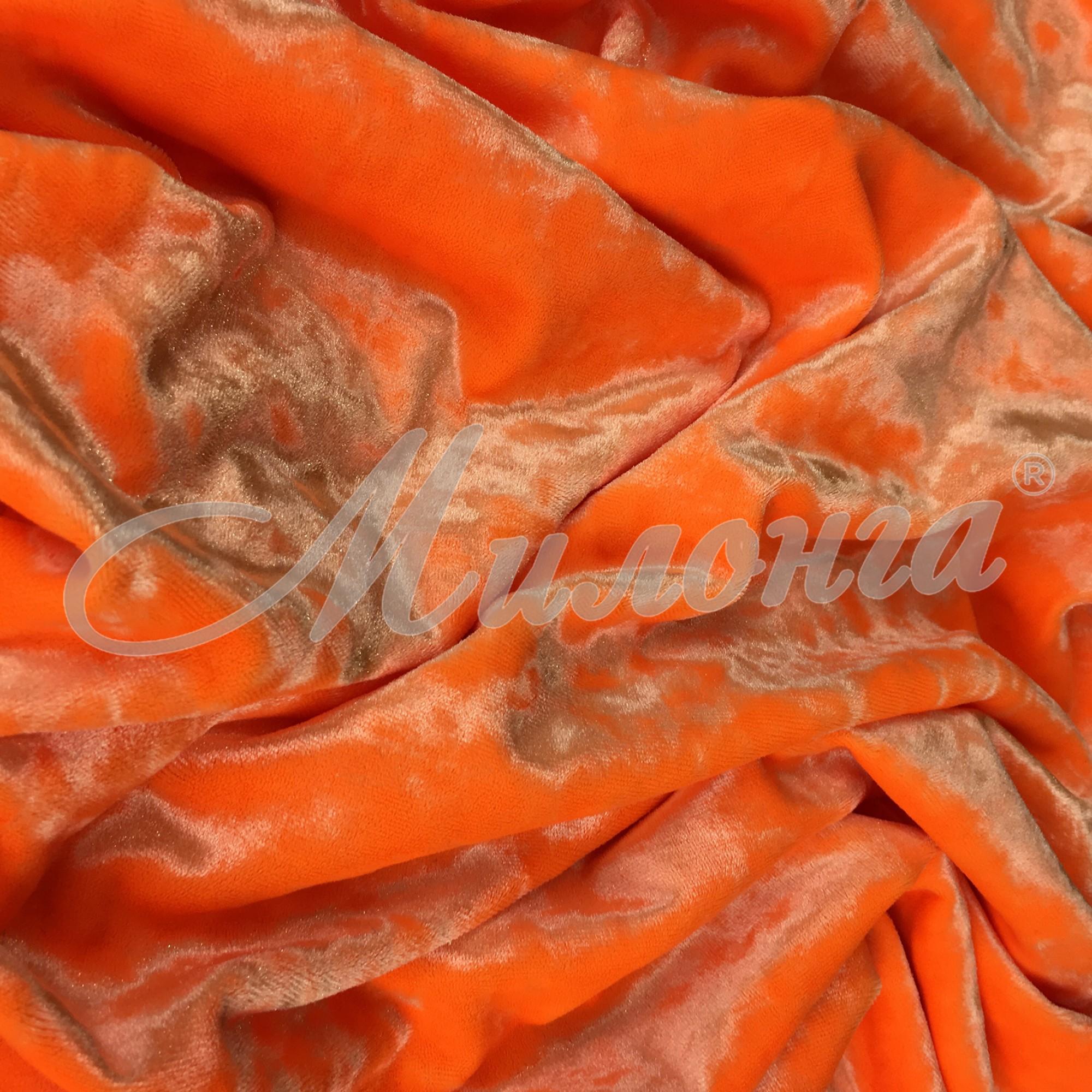 Вельвет Crusheo Италия Orange