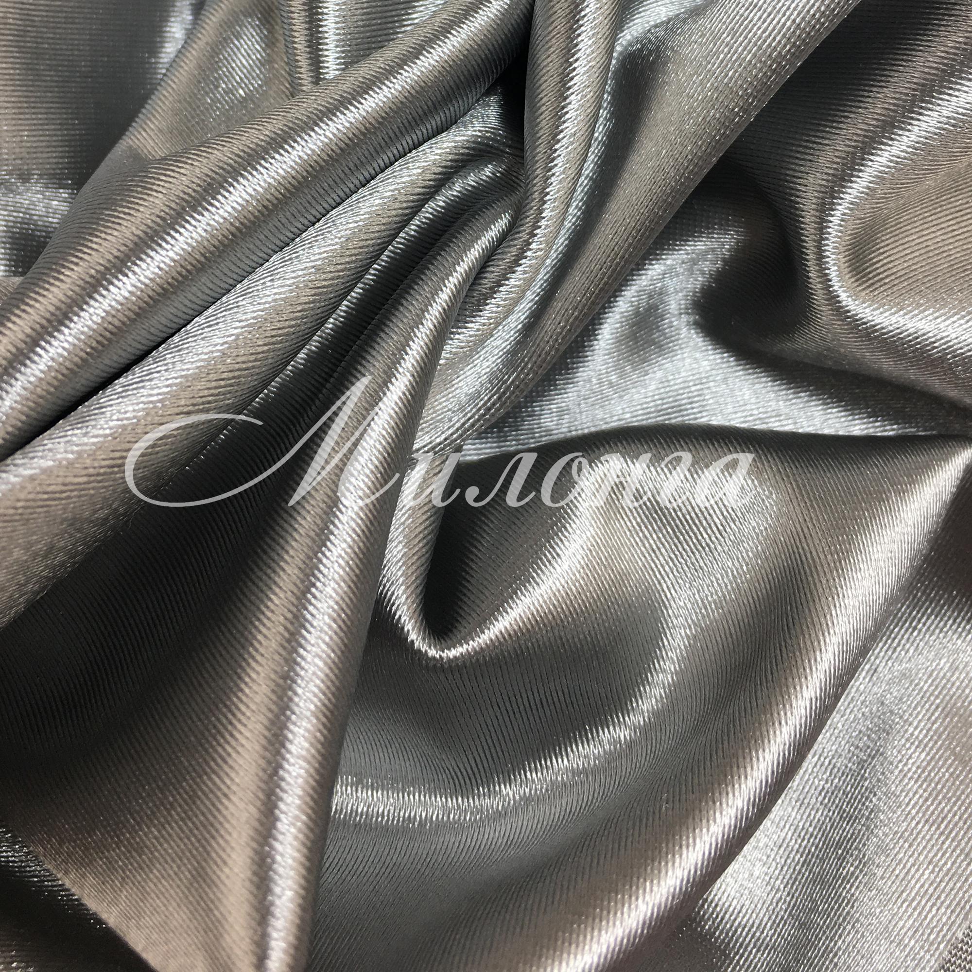 Вельвет сатин Италия Silver